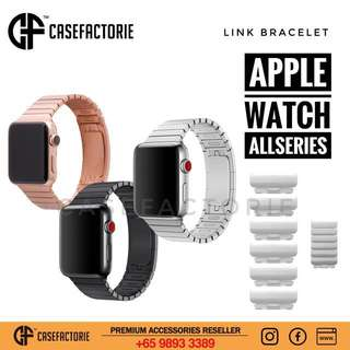 42mm/38mm Apple Watch Series 3/2/1 Casefactorie Link Bracelet Case Casing Cover Strap Band