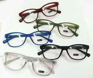New... Optical frame Rubberized eyeglasses Antoi radition specs Replaceable lens Adjustable hand W/free hardcase+wiper