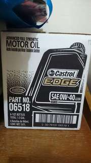 New 6 bottles of 1qt castrol edge 0w-40 engine oil