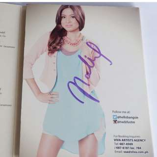 SIGNED Nadine Lustre Self Titled Album