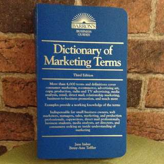 Marketing Dictionary Of Marketing Terms
