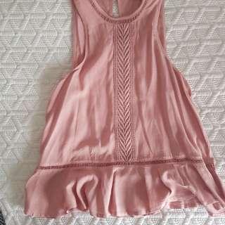 Miss Shop Pink Peplum Top -Size 6