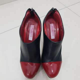 Fiorucci Leather Ankle Boots Heel