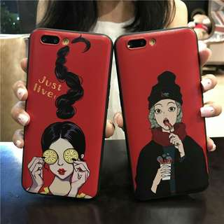 Ladies Soft case For Iphone 5 to 8+