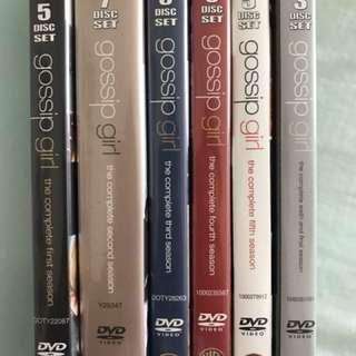 Gossip Girl DVD set seasons 1-6