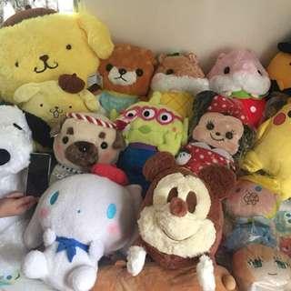 Disney / Sanrio / amuse 大公仔全新放售!100蚊起