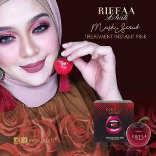 READY STOCK💕RIFFA DHATI PINKY LIP SCRUB & MASK / 10gm. Processing Proceed Upon Full Payment Received Via Bank Transfer