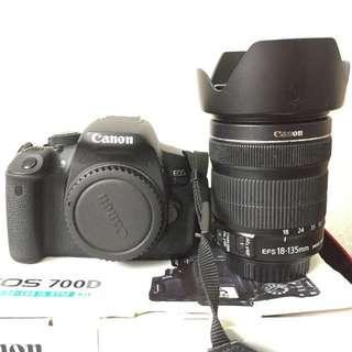 Canon 700D + 18-135mm Lens
