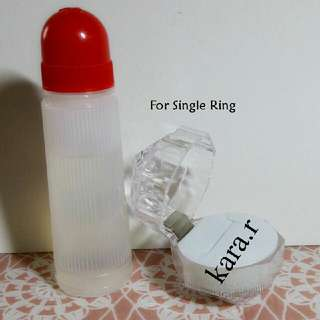 Wedding : For Propose Ring Case Holder Storage Plain Clear Transparent
