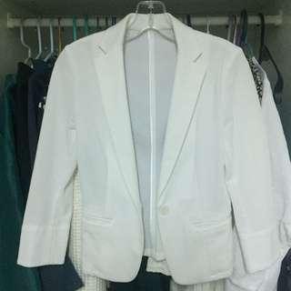 日牌 comme ca ism white blazer