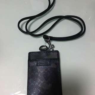 Coach card holder 迷彩黑色