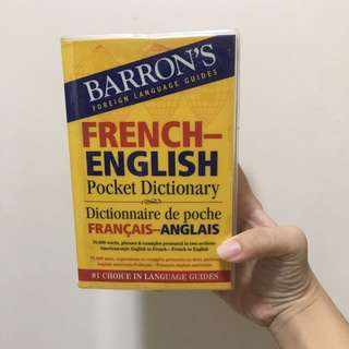 baron's foreign language guides french english pocket dictionary 英法字典
