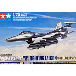 Tamiya 1/72 F16cj Kit with Full Equipment