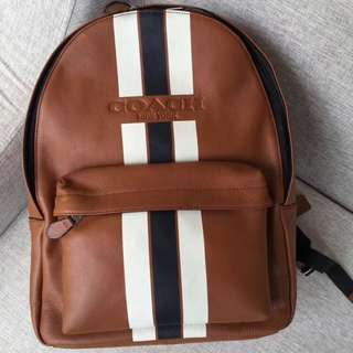 Coach Leather Men's 72237 Backpack Brown