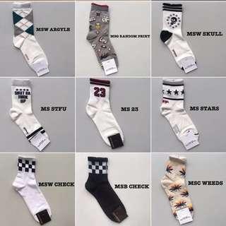 Unisex Fashion Socks from Korea