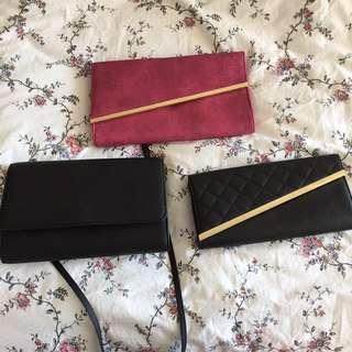 3 bag/clutch combo