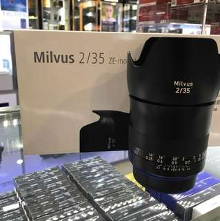 Zeiss 35mm F2 Milvus Lens *Canon Mount