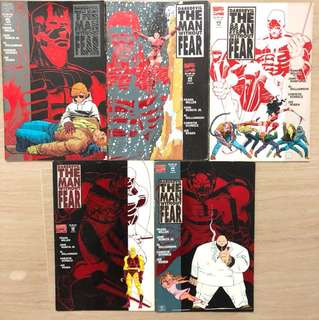 Marvel comics - limited edition Daredevil The Man Without Fear 1-5.