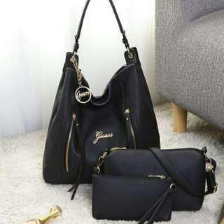 GUESS Hobo Bag 3 in 1 Black