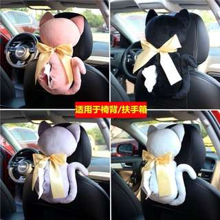 🚚 車用🚗貓咪紙巾盒🐱