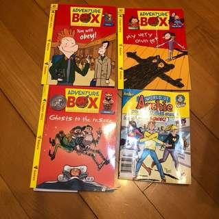 4 children story books (90% new)