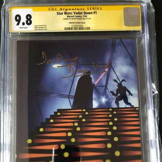 Star Wars : Vader Down #1 CGC SS signed by David Prowse