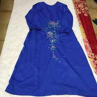 Maxi Long Dress Comfortable Pretty Cute Beautiful Instock Preloved Muslimah Hijab Jubah