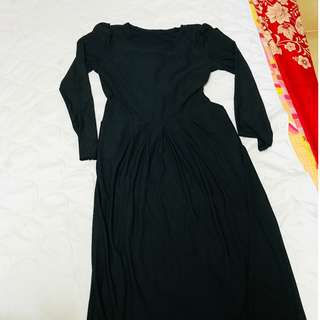 Black Pocket Maxi Long Dress Comfortable Pretty Cute Beautiful Instock Preloved