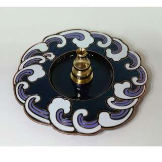 Alloy Enamel Inlay Incense Holder/Burner 合金珐琅彩祥云香盘