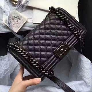 Chanel Le Boy Crossbody Bag In Black Chain