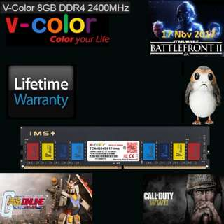 V-Color DDR4 iMS series 8GB 2400MHz Unbuffered DIMM ( TC48G24S817-iMS For Mining & Gaming)