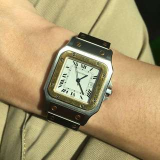 [SOLD] Cartier Santos Auto 90s [FULLY SERVICED]