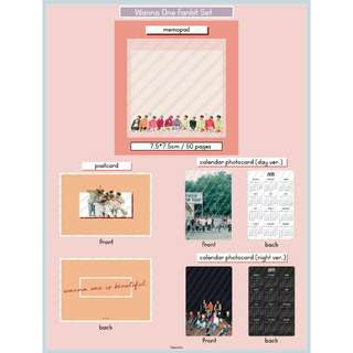 Wanna One Memopad Fankit
