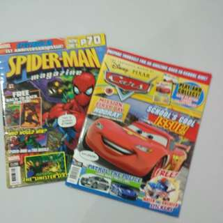spider man and cars magazine