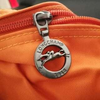 🈹100%Real, 100%New, Longchamp 短帶 中號 橙色🈹