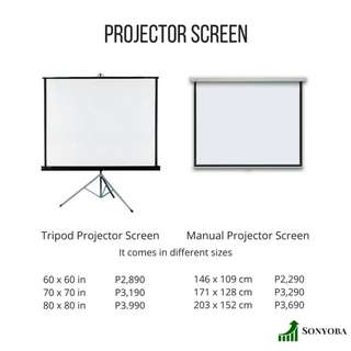 Pull down and Tripod Projector Screen