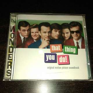Music CD Original Motion Picture Soundtrack  That thing You Do
