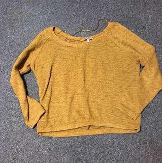 🚚 Zara 芥黃色針織寬上衣#冬季衣櫃出清
