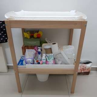 Ikea baby changing table + inflatable mat
