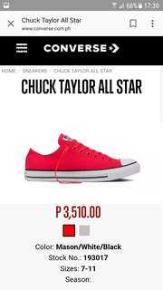 Convers Chuck Taylor Shoes