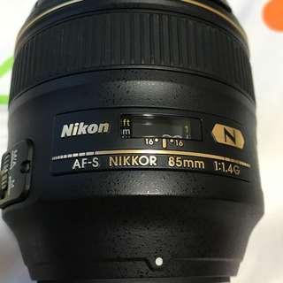 Nikon Nikkor AFS 85mm F1.4G
