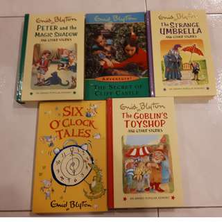 Enid Blyton Books: Peter & Magic Shadow; Secret of Cliff Castle; Strange Umbrella, etc