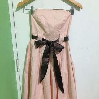 Millenial Pink Tube Dress