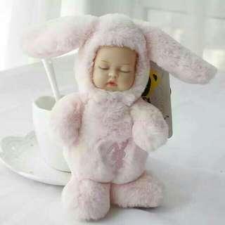 🚚 可愛萌娃睡眠娃娃包包掛飾鑰匙掛飾車內掛飾