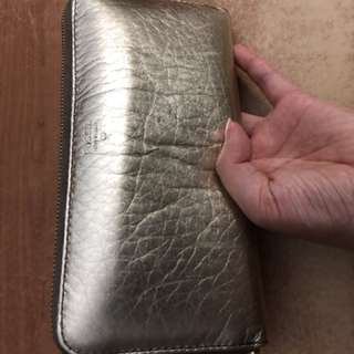 GOLD FOSSIL WALLET FOR SALE