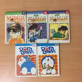 Komik Doraemon & Detektif Conan