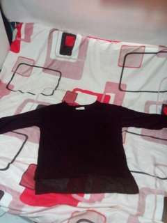 Black knitted pull over