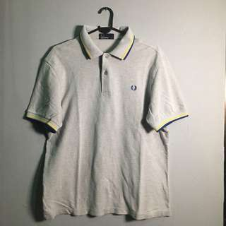 FRED PERRY Twin Tipped Polo Shirt Grey