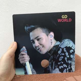 G-DRAGON GDWORLD Fanclub Handfan
