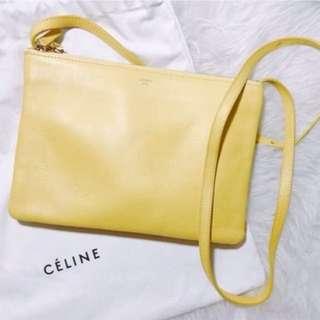 Celine trio L size 黃色